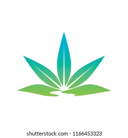 Valley River Cannabis Farm illustration logo icon vector