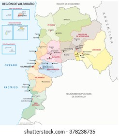 Valparaiso (Chile) Administrative Region Map