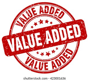 value added. stamp