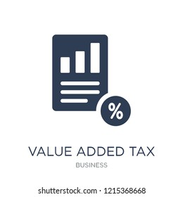 Value added tax (VAT) icon. Trendy flat vector Value added tax (VAT) icon on white background from business collection, vector illustration can be use for web and mobile, eps10
