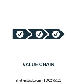 Value Chain icon. Simple style design from industry 4.0 collection. UX and UI. Pixel perfect premium value chain icon. For web design, apps and printing usage.