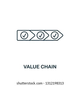 Value Chain icon. Thin line style industry 4.0 icons collection. UI and UX. Pixel perfect value chain icon for web design, apps, software usage