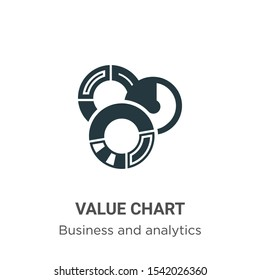 Value chart vector icon on white background. Flat vector value chart icon symbol sign from modern business and analytics collection for mobile concept and web apps design.