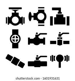 valve icon isolated sign symbol vector illustration - Collection of high quality black style vector icons