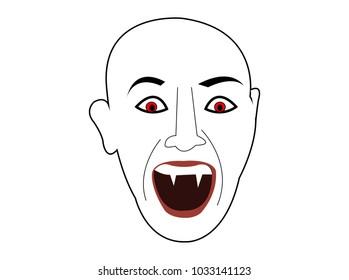 Vampire demon face head