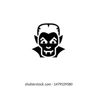 Vampire Dracula vector isolated flat illustration. Vampire Dracula icon