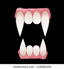 Vampire fangs vector illustration