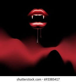vampire lips poster nigt party template