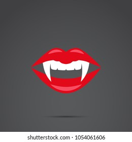 Vampire lips vector icon.