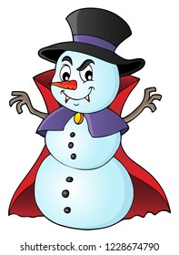 Vampire snowman theme image 1 - eps10 vector illustration.