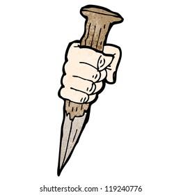 vampire stake cartoon