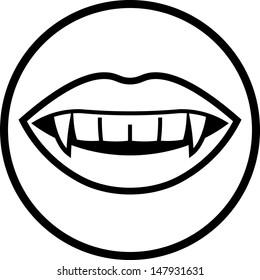 Vampire teeth vector