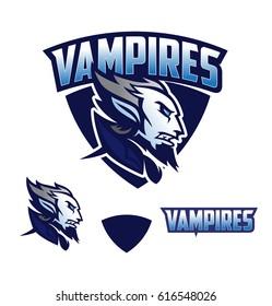 Vampire vector logo