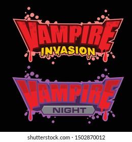 Vampire vector logo template design