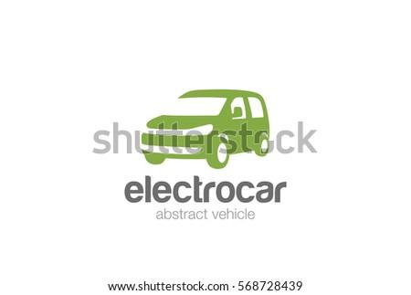4a3b4da63b Van car delivery Logo design vector silhouette template. Auto vehicle  Logotype concept icon