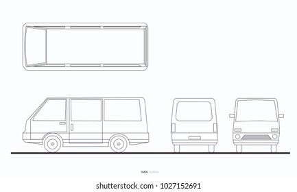 van car outline graphic transportation
