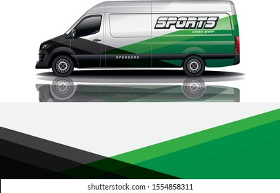 Van car Wrap design for company eps 10