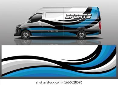Van Car Wrapping Decal Design