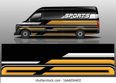 Van Car Wrapping Decal Design