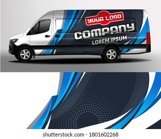 Van Car Wrapping Decal. Development of car design for the company. Branding a car.