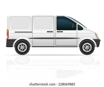 van for the carriage of cargo vector illustration isolated on white background