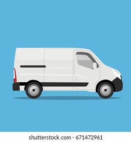 van flat illustration