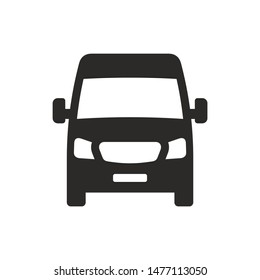 Van front view icon isolated on white background