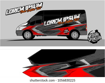 van graphic kit. abstract background for vehicle and boat wrap