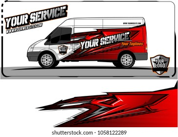 van graphic kit. Abstract racing graphic background for car, truck, van, boat wrapping decals. can use for other background graphic needed too.