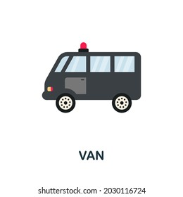 Van icon. Flat sign element from law collection. Creative Van icon for web design, templates, infographics and more