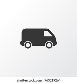 Van icon symbol. Premium quality isolated lorry element van icon in trendy style.
