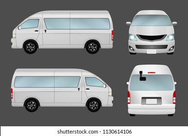 Van, minibus isolate on the background. Ready to apply to your design. Vector illustration.