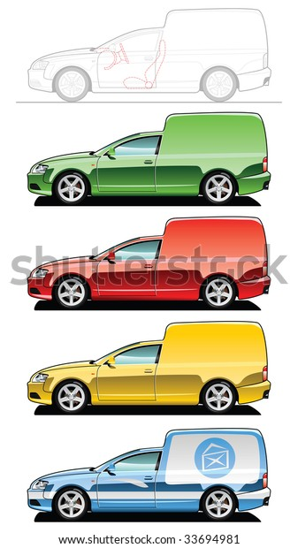 Van Part My Collections Car Body Stock Vector Royalty Free