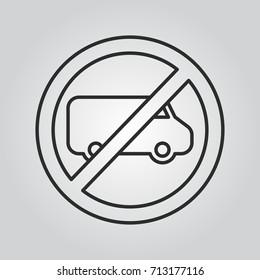 van road sign icon