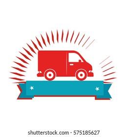 van vehicle isolated icon