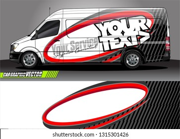 van wrap design. simple lines with abstract background vector concept for vehicle vinyl wrap and automotive decal livery