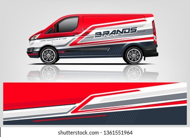 Van wrap design. Wrap, sticker and decal design for company. Vector format - eps 10 Vector