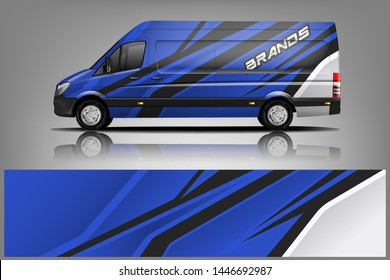 Van wrap design. Wrap, sticker and decal design for company. Vector format.