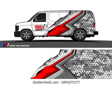 van wrap graphic vector.  abstract background for vehicle vinyl branding