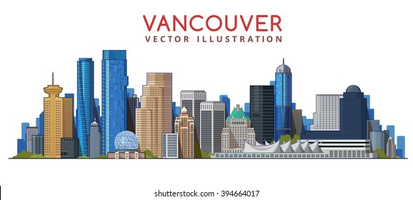 Vancouver City Skyline Design. Canada
