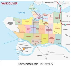 Vancouver Map Images Stock Photos Vectors Shutterstock