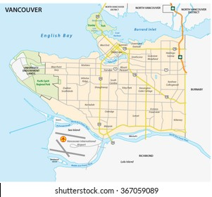 vancouver road and neighborhood  map