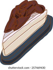Vanilla cake with chocolate