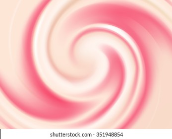 Vanilla and Strawberry Cream Abstract Vector Texture. Background made with gradient mesh.
