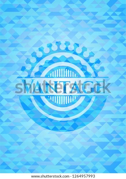 Vantage Light Blue Emblem Triangle Mosaic Stock Vector (Royalty Free