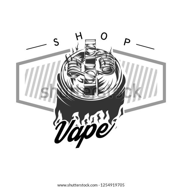Vape logo vector, Vaping Vector Illustration