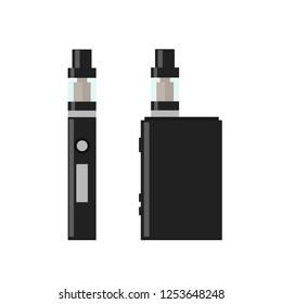 Vape Pen. Vaping box. E-cigarette for vaping. Electronic Cigarette. Isolated vector illustration on white background.