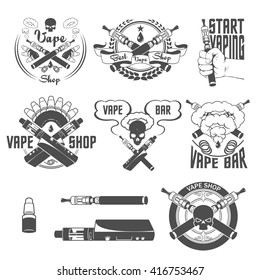 Vape shop and bar labels