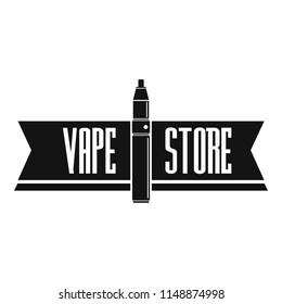 Vape store logo. Simple illustration of vape store vector logo for web design isolated on white background