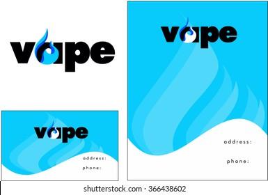 Vape, Vapor Logo, Business Design and Flyer Design